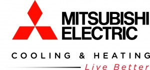 Mitsubishi Cooling & Heating - live better logo